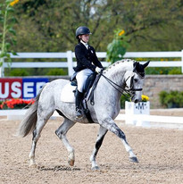 Jenna riding Greystoke at the 2016 U.S. Dressage Festival of Champions  Lamplight Equestrian Center  Photo Credit: Susan J Stickle Photography