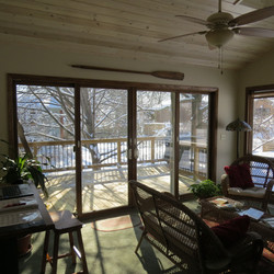 Converted deck to all season room