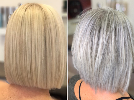 Embracing the Grey, White & Silver hair.