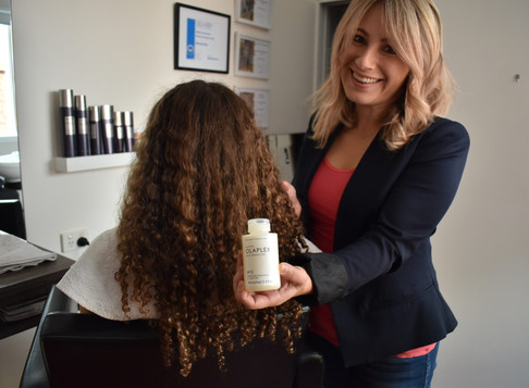 How to use Olaplex no.3 treatment on curly hair