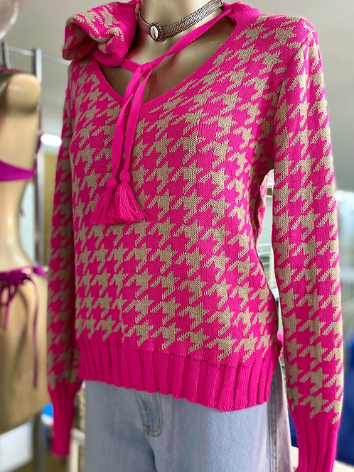 TRICOT CAPUZ POUDLE PINK