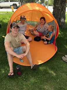 Kendall Nash Lucas Joel pop up tent.jpeg