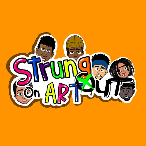 STRUNG OUT ON ART STICKERS
