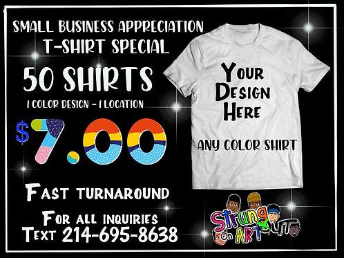 50 Shirts - $7.00 each