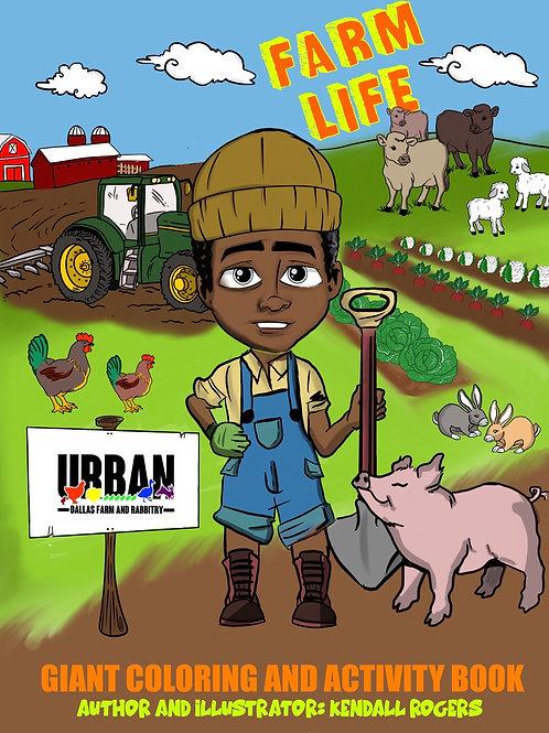 Farm Life: Coloring & Activity Book