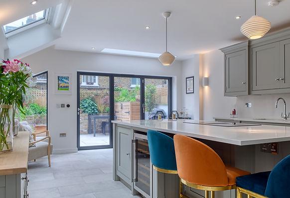 kitchen extension side return glazing island