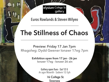 'The Stillness of Chaos' Exhibition, January 17th, Elysium College St Gallery, Swansea