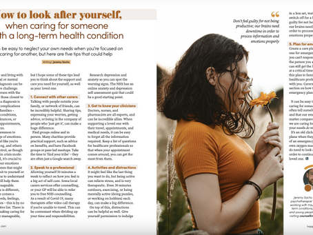 Published article: How to look after yourself when caring for someone with a longterm condition