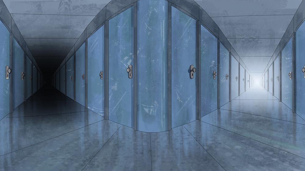the asylum dual corridor