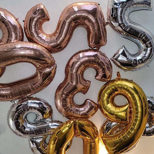 Jumbo Number Balloon