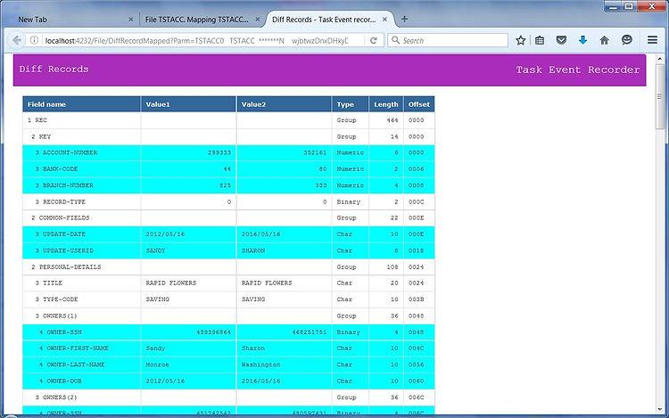 Compare VSAM records