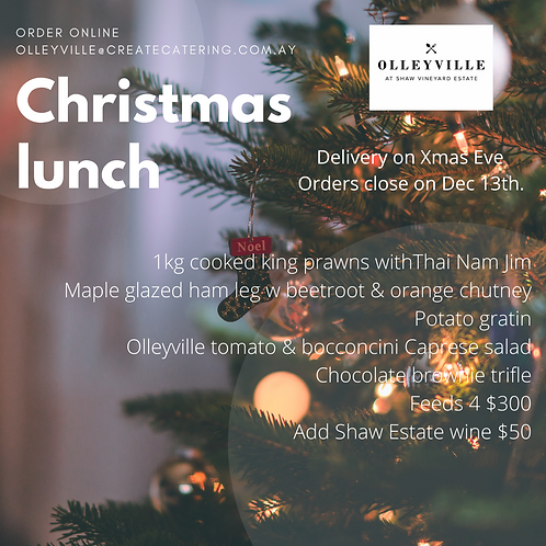Delivered Christmas Lunch