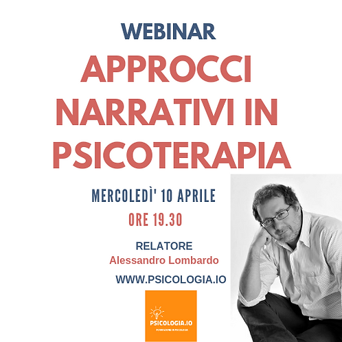 Webinar | Approcci Narrativi in Psicologia