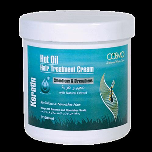 Cosmo Hot Oil Hair Treatment Cream - Keratin 1000ml/33.8 Fl. oz.