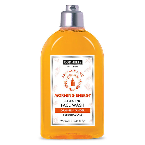 Cornells Face Wash Morning Energy Orange & Ginger  Essential Oils 8.5 Fl.oz.