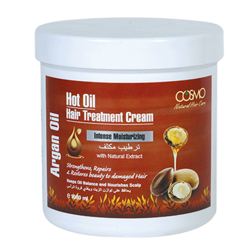 Cosmo Hot Oil Hair Treatment Cream - Argan Oil 1000ml/33.8 Fl. oz.