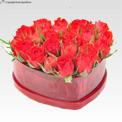Coração de Mini Rosas
