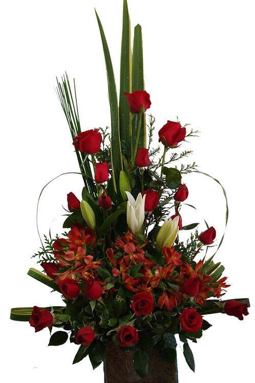 24 Rosas, Alstroemérias e Lírios