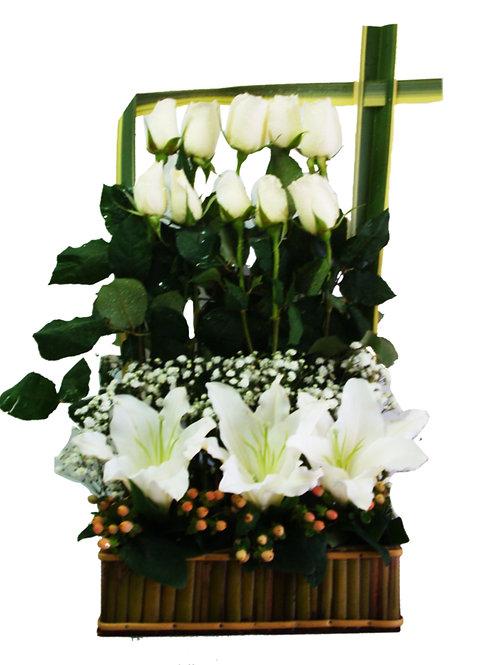 Jardineira Lírios e Rosas