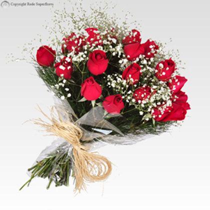 Buquê de 12 Rosas avassalador