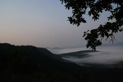 A misty morning in October