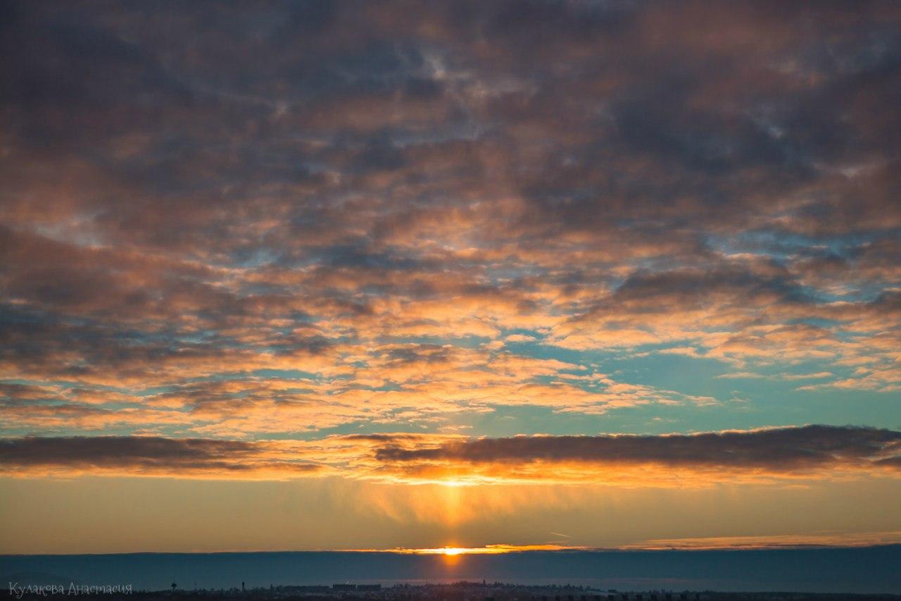 закат. Финский залив