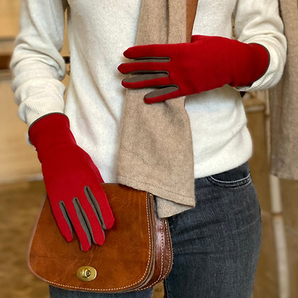 LE TISSIER Rouge / Taupe