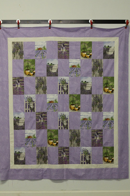 Garden and Birdhouse Quick Quilt Kit