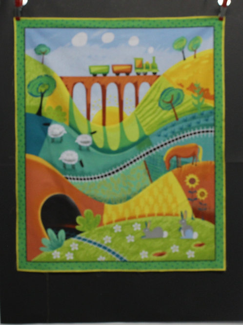 Along the Countryside Panel Quilt Kit