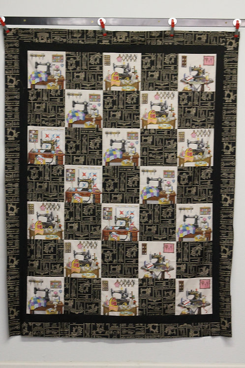 Vintage Sewing Machine Quick Quilt Kit