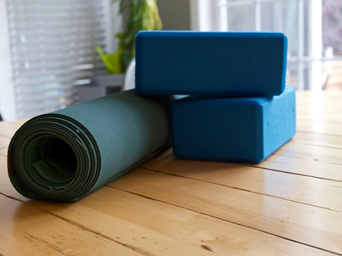 Yoga blocks (2) and Yoga mat (1)