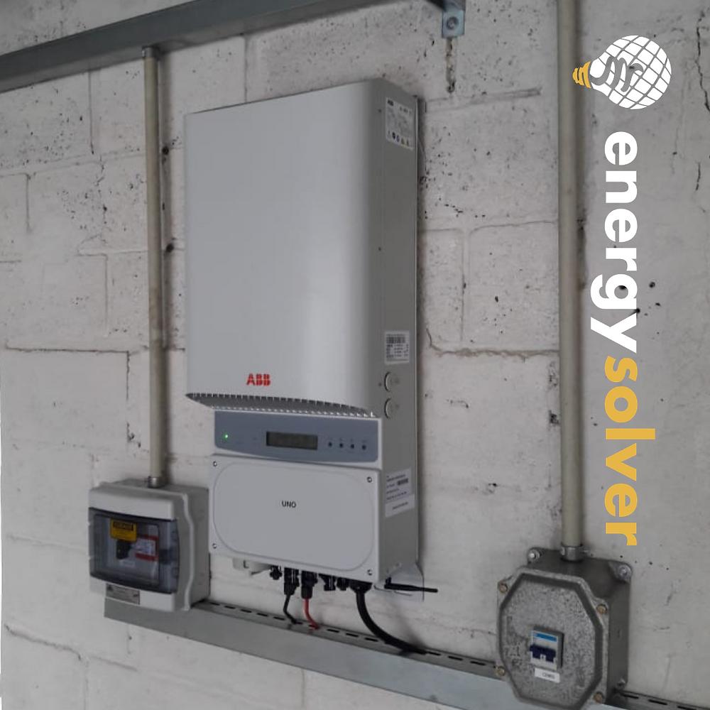 inversor abb 5.0 instalado energysolver