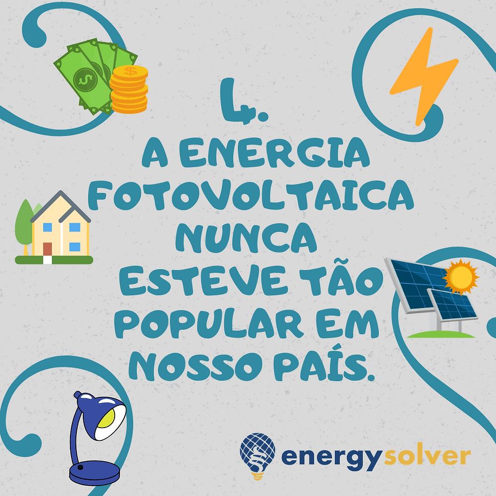 A energia fotovoltaica nunca esteve tão popular no nosso país