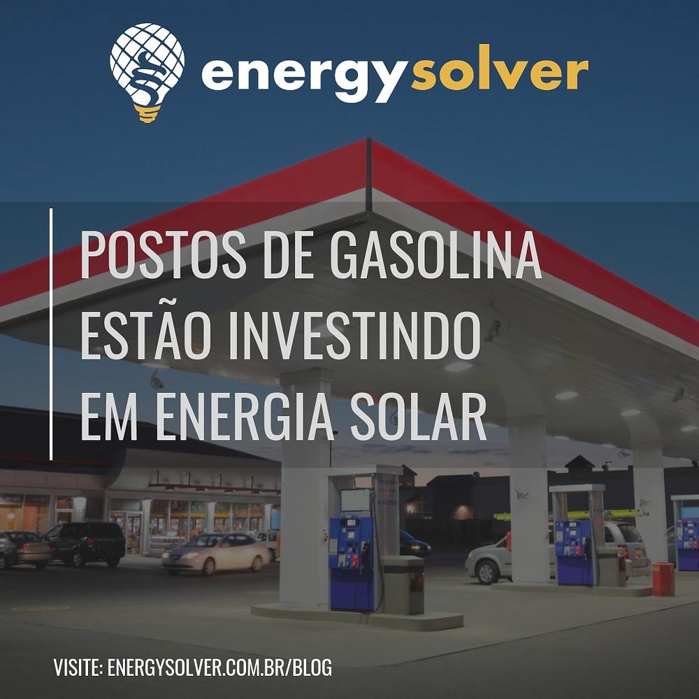 Posto de gasolina energia solar fotovoltaica