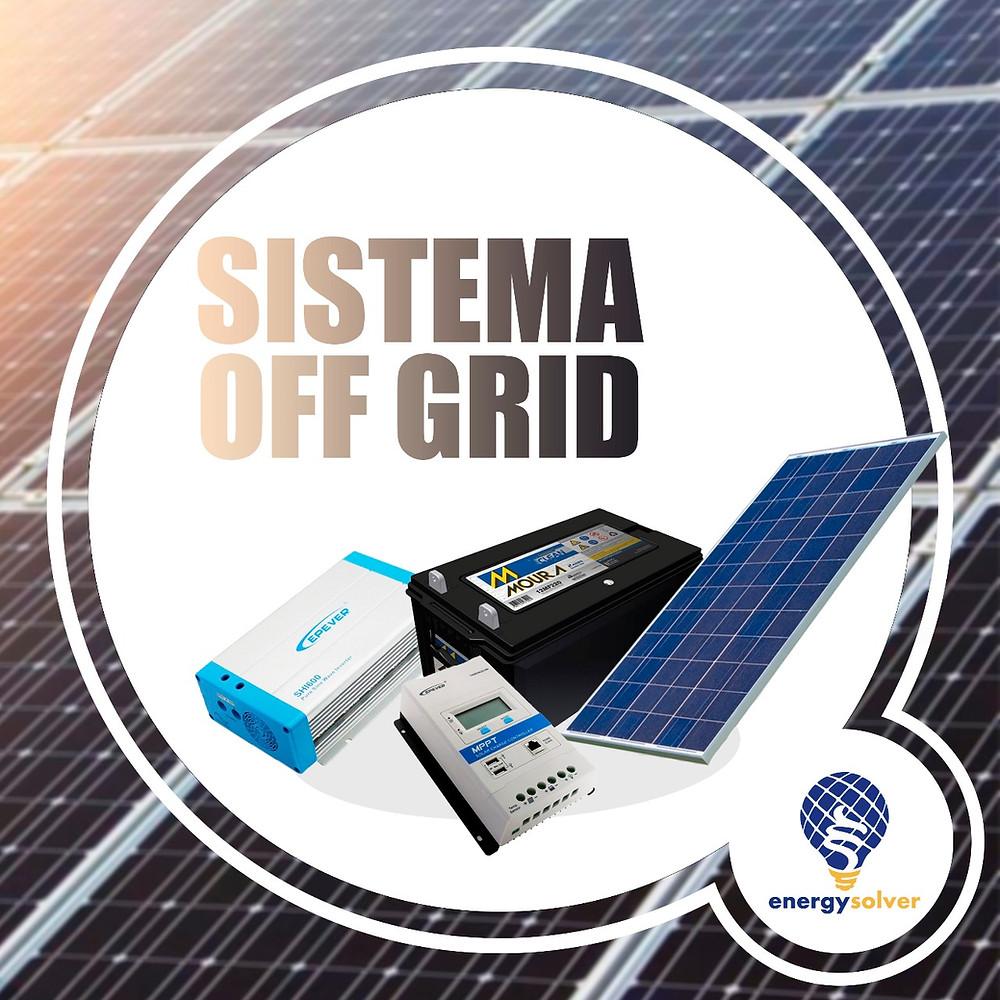 Sistema Solar Off Grid Fotovoltaico Bateria