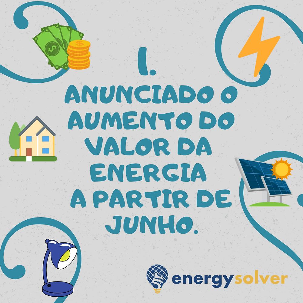 Anunciado o aumento do valor da energia