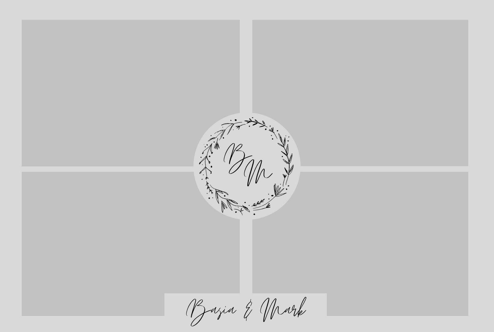 grey and black monogram