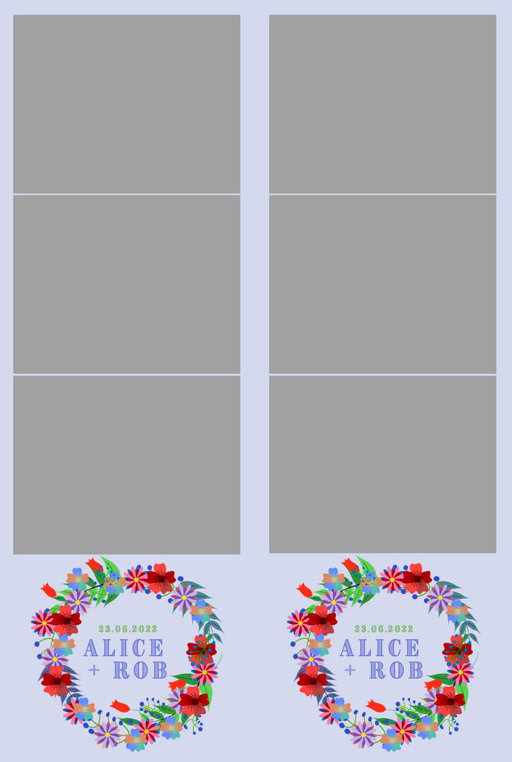 Multicolour Flower Strips