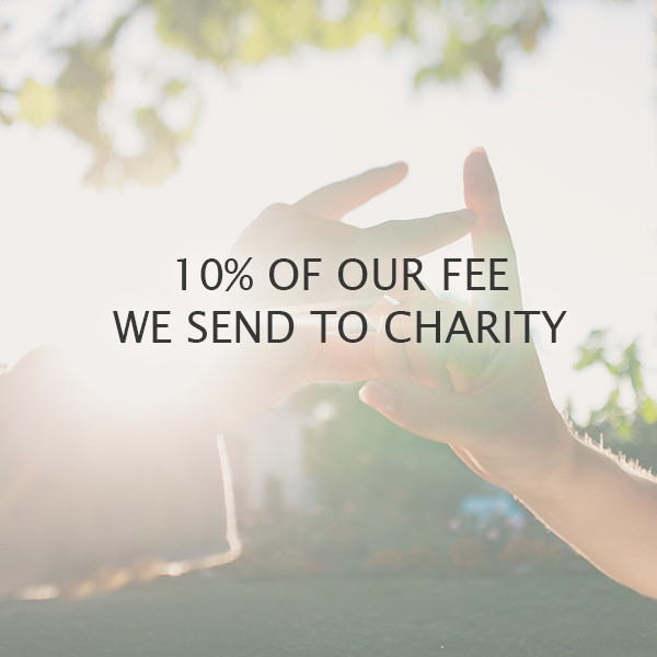 We send 10% of the fee from YOUR WEDDING to charity - to develop the infrastructure of the Ukrainian Filantropic Marketplace ubb.org.ua. It is very important for us that our work bears, apart from beauty and social significance.
