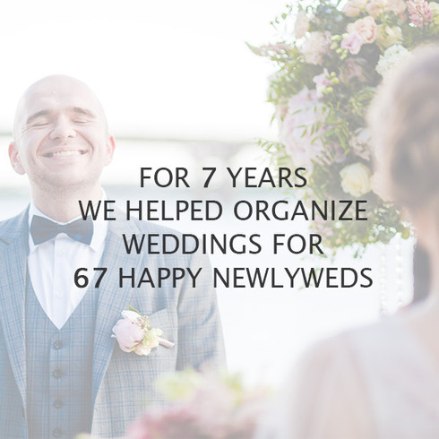 You can be absolutely sure that your event will be perfect. Thankfully to our event planning experience we are able to foresee any unexpected situations. Moreover, our positive reputation on wedding market is confirmed by true reviews from our clients. We are trusted as we demonstrate and overachieve all expectations!