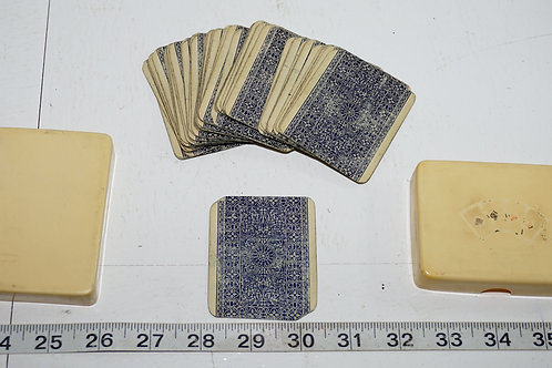Vintage Poker Cards With Celluloid Case