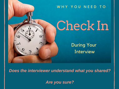 The Most Important Part of Your Interview - Checking In