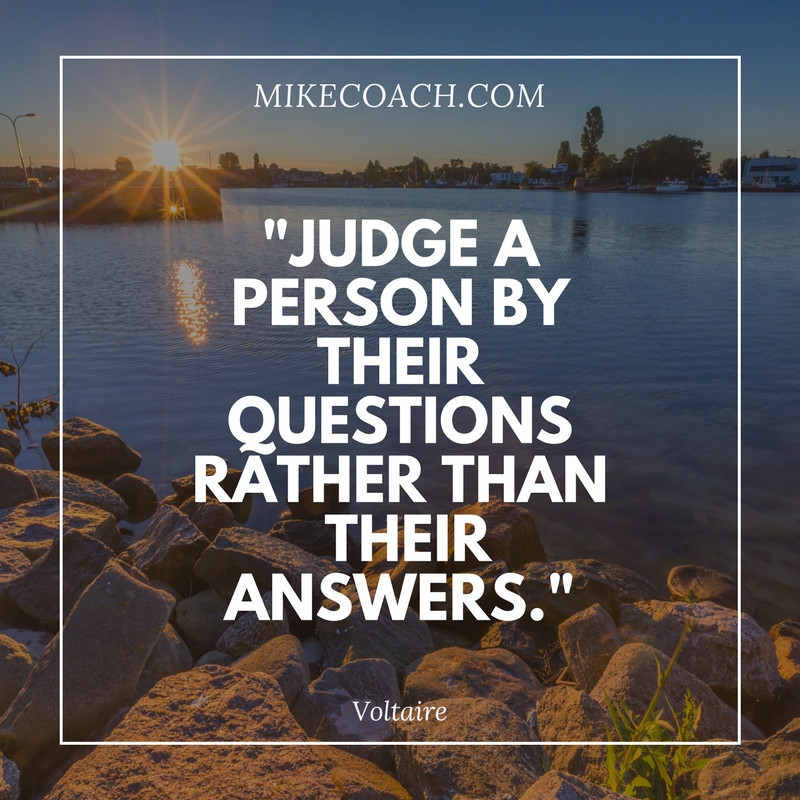 Judge by Questions not Answers