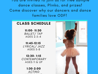 Free Dance Day IS BACK!