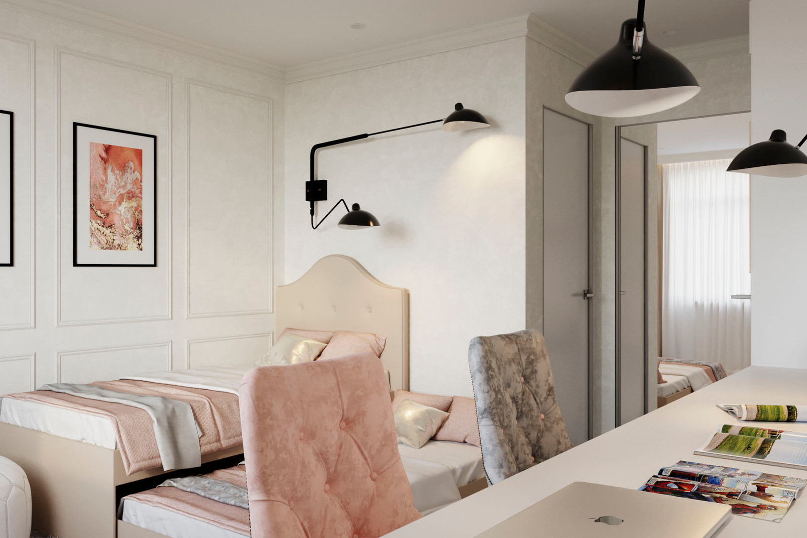 спальня девочек дизайн
