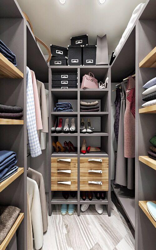 красивые гардеробные