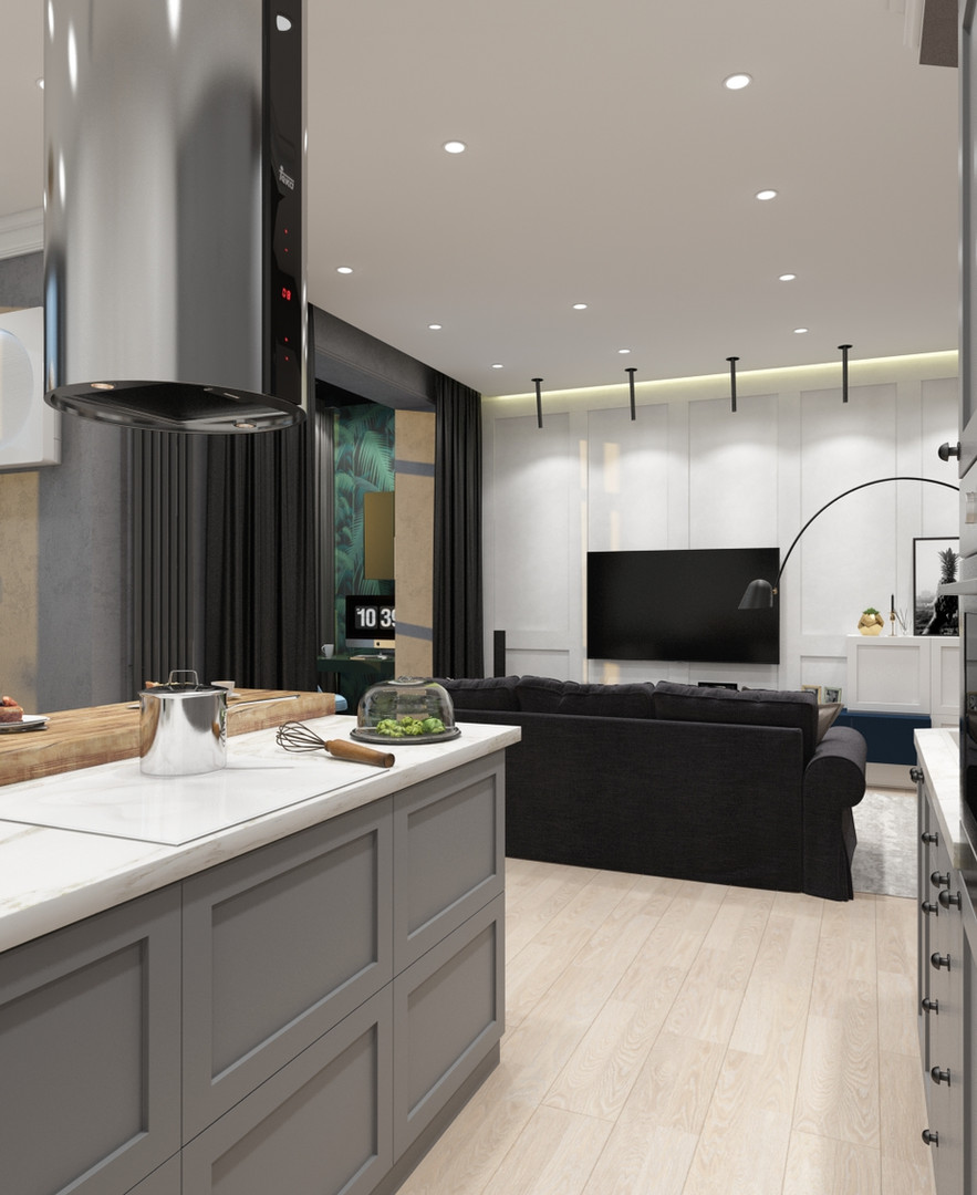 кухня-гостиная дизайн