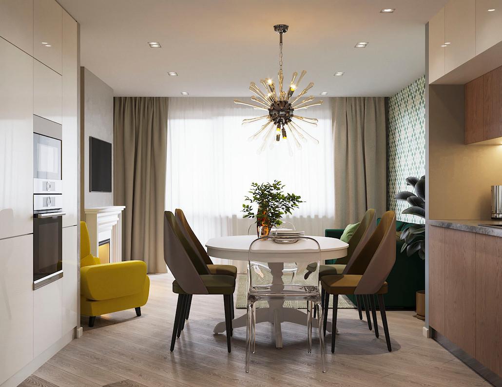 гостиная с яркими цветами