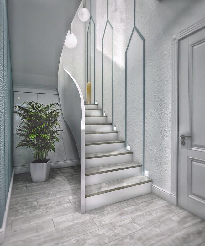 овальная лестница