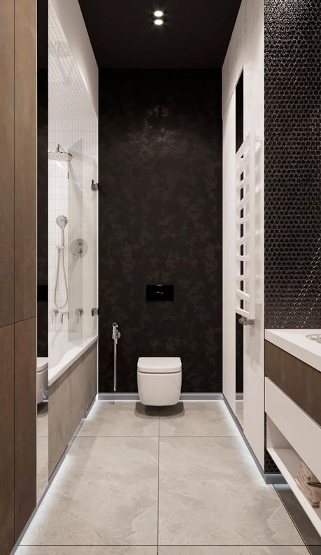 ванная комната черная